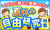 夏休み自由研究特集