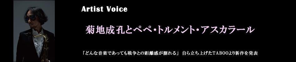 Artist Voice —菊地成孔 インタビュー
