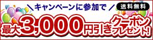 最大3,000円引きクーポンプレゼントキャンペーン!