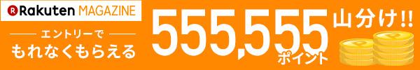 エントリーするだけでもれなく555,555ポイント山分け!