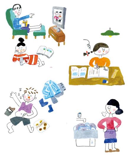 家庭の教育力イラスト