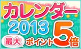 2013年カレンダー ポイント5倍キャンペーン