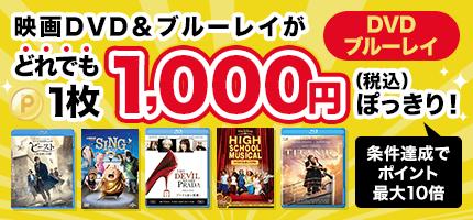 ブルーレイ・DVDどれでも1,000円(税込)から!条件達成でポイント10倍も!