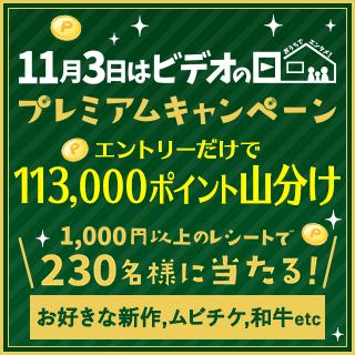 11月3日はビデオの日山分けキャンペーン実施中!