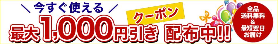 最大1,000円引き!今すぐ使えるクーポンプレゼントキャンペーン!