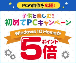 DSP Windows10 Home と SSDのセットがポイント5倍