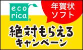 エコリカ インク3,000円以上購入で年賀状ソフト「宛名職人」がもらえる!