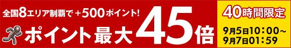 【40時間限定】ポイント最大45倍!楽天市場 お買い物マラソン開催中!