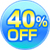 40%OFF!