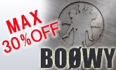 BOOWY&COMPLEXのCD、DVDが最大30%OFF!