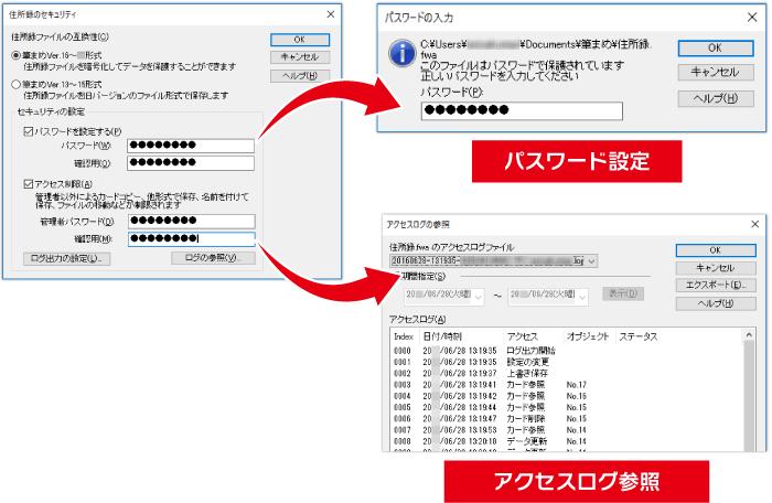 住所録セキュリティ機能